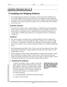 Compiling and Weighing Evidence Worksheet