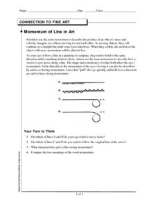 Momentum of Line in Art Worksheet