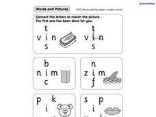 CVC Words: Medial Vowel i Worksheet