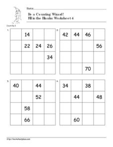 Be a Counting Wizard! Worksheet, 4 Worksheet