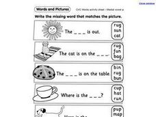 Match Words With Pictures Worksheet