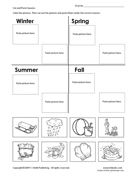 cut and paste seasons worksheet for 1st 2nd grade lesson planet. Black Bedroom Furniture Sets. Home Design Ideas
