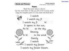 Poem: Initial Blends Worksheet