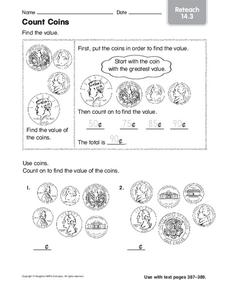 Count Coins Worksheet
