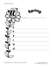 Acrostic poem-Spring Worksheet