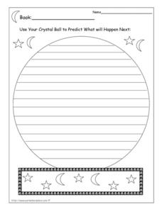 Making Predictions Organizer Worksheet