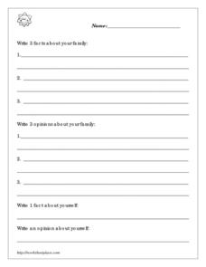Family Facts Worksheet