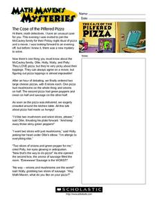 """The Case of the Pilfered Pizza"" Worksheet"