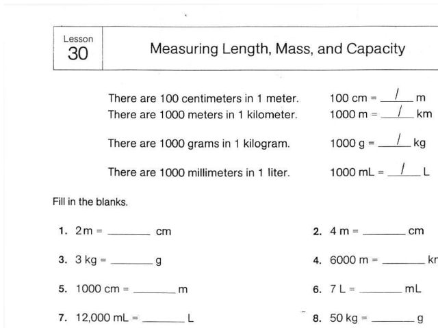 measuring length mass and capacity worksheet for 4th 5th grade lesson planet. Black Bedroom Furniture Sets. Home Design Ideas