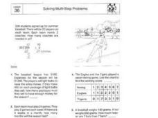 Solving Multi-Step Problems 36 Worksheet