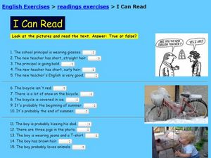 I Can Read! Worksheet