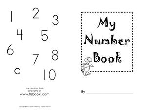 My Number Book Worksheet
