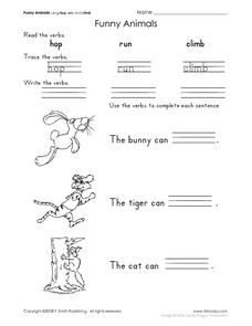 Funny Animals Worksheet
