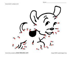 Dot-to-Dot Puppy Worksheet