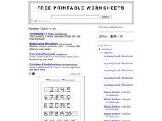 Number Chart 1-30 Worksheet