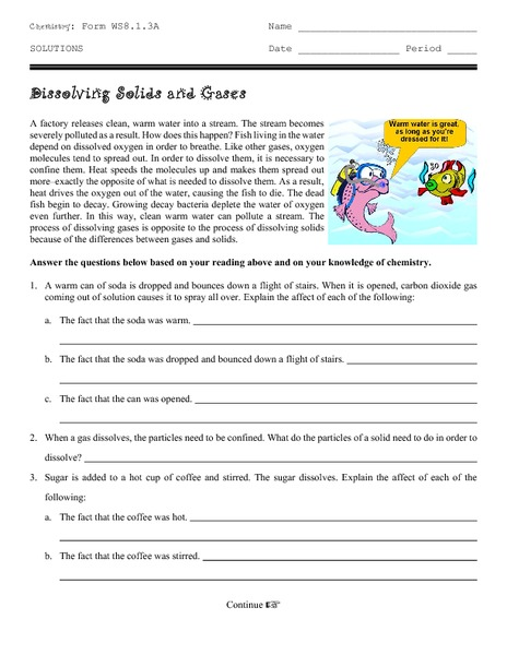 dissolving solids and gases worksheet for 9th 12th grade lesson planet. Black Bedroom Furniture Sets. Home Design Ideas