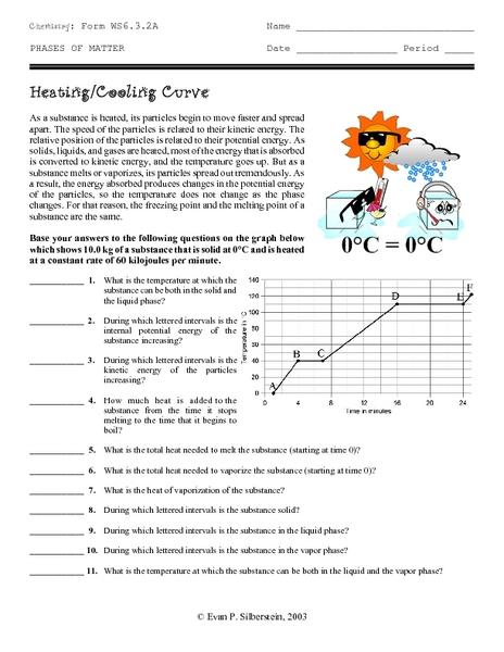 Phase change worksheet answer key