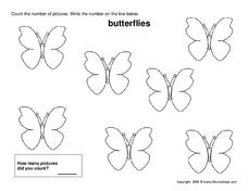 Count the Butterflies Worksheet