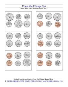 Count the Change Worksheet