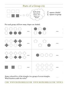 Parts of a Group (A) Worksheet
