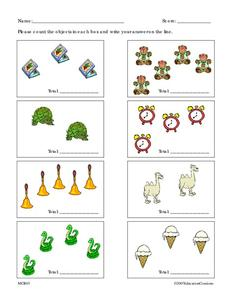 Count the Objects Worksheet