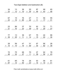 Two-Digit Addition and Subtraction (B) Lesson Plan