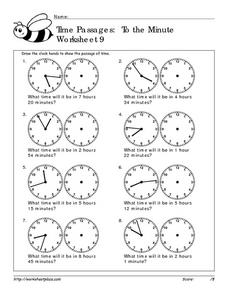 Time Passages: To the Minute Worksheet 9 Worksheet