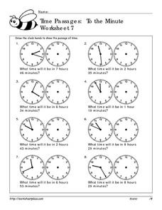 Time Passages: To the Minute  Worksheet 7 Worksheet