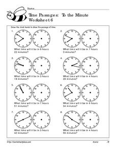 Time Passages: To the Minute  Worksheet 6 Worksheet