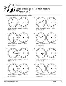 Time Passages: To the Minute Worksheet 5 Worksheet