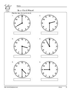 Be a Clock Wizard 5 Worksheet