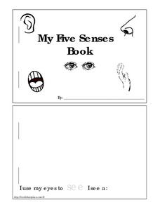 My Five Senses Book Worksheet
