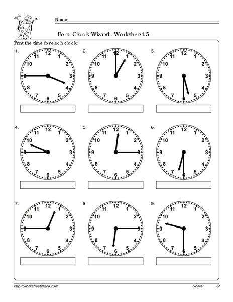 be a clock wizard worksheet 5 worksheet for 2nd 3rd grade lesson planet. Black Bedroom Furniture Sets. Home Design Ideas