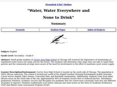 """Water, Water Everywhere and None to Drink"" Lesson Plan"