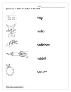 Word Recognition: R Worksheet