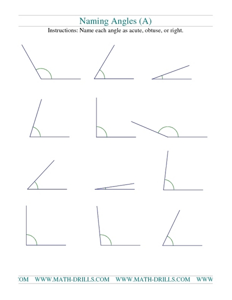 Naming Angles: Worksheet 2 Worksheet