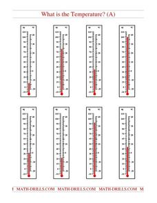 What Is the Temperature? (A) Worksheet