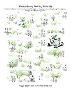 Easter Bunny Feeding Time (B) Worksheet