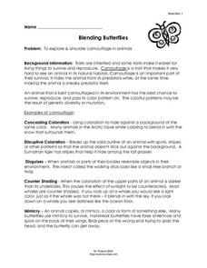 Blending Butterflies Lesson Plan