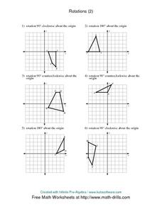 Rotations (2) Worksheet