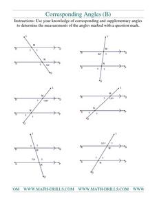 Corresponding Angles 3 Worksheet