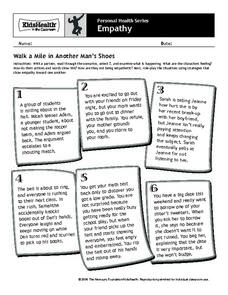 Walk a Mile in Another Man's Shoes Worksheet