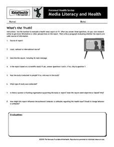 What's the Truth? Worksheet