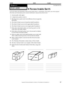 Forces Inside the Earth Worksheet