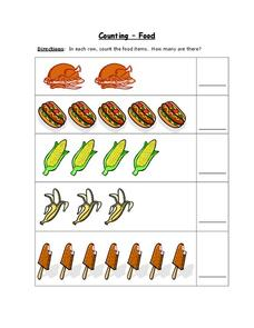 Counting - Food Worksheet