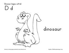 Dinosaur Begins with D Worksheet