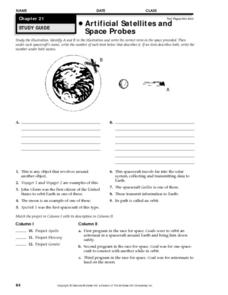 Artificial Satellites and Space Probes Worksheet