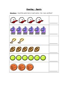 Counting - Sports Worksheet