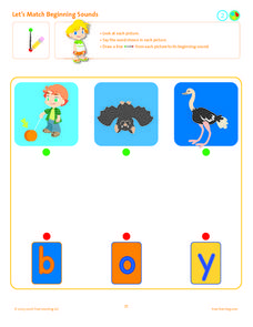 Let's Match Beginning Sounds Lesson Plan