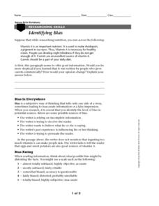 Identifying Bias Worksheet